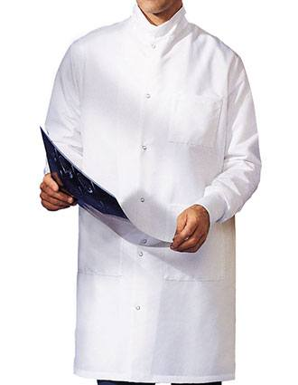Landau Snap Front White Barrier 41 inches Medical Lab Coat