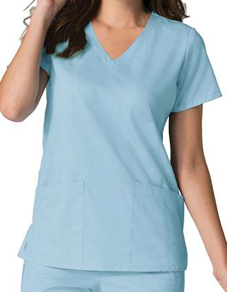 Maevn EON Womens V-Neck Solid Scrub Top