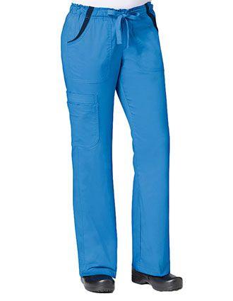 Maevn Empress Women's Petite Contrast Knit Flare Cargo Pant