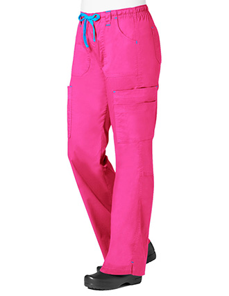 Maevn Blossom Women's Petite Multi Pocket Cargo Pant