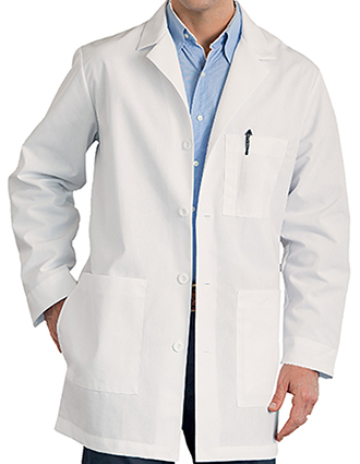 Meta Mens Three Pocket 34 inch Long Medical Lab Coat-ME-1168