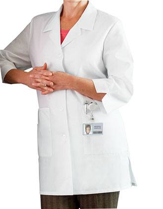 Meta Women's 3/4 Sleeve 33 Inches Short Medical Lab Coat-ME-15012