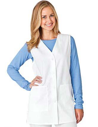 Meta Womens Three Pocket V-Neck Long Nurse Vest