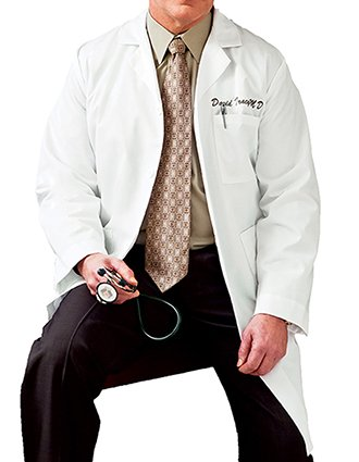 Meta Men 40 inch Three Pocket Medical Lab Coat