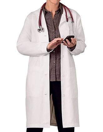 Meta Womens Three Pocket 38 Inches Long Medical Lab Coat-ME-651