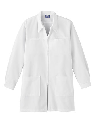 Meta Unisex Four Pocket Zip Front 36 Inch Long Dental Lab Coat