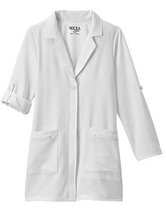 Meta Pro Women's 33 Inch Roll-Up Sleeve Stretch Labcoat