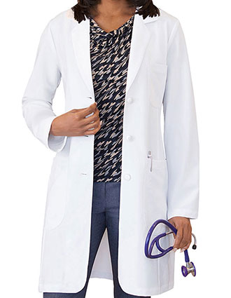 Meta Pro Women's 35 Inches Tri-Blend Stretch Labcoat