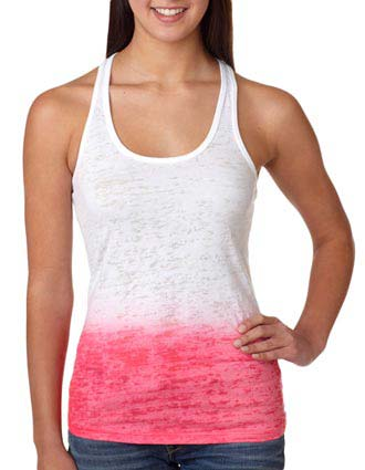 Next Level Ombre Burnout Racerback Tank-NE-6532