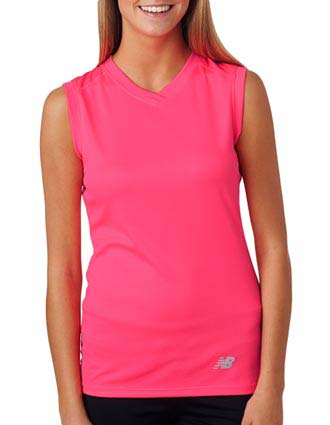 New Balance Ladies' NDurance Athletic Workout V-Neck T-Shirt