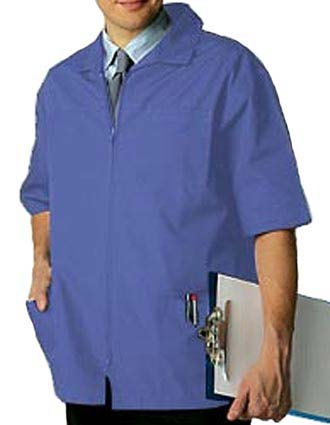 Adar Pro Zippered Front Five Pocket Mens Medical Scrub Jacket-PN-3001
