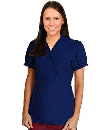 Adar Pro Two Pocket Womens Mock Wrap Scrub Top-PN-4003