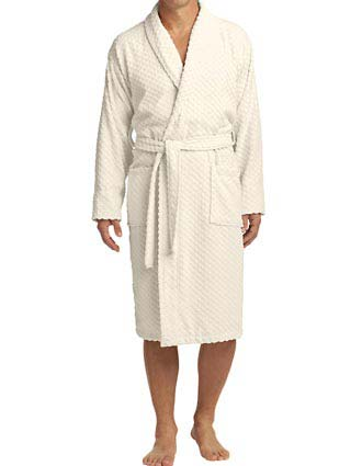 Port Authority Unisex Checkered Terry Shawl Collar Robe-PO-R103