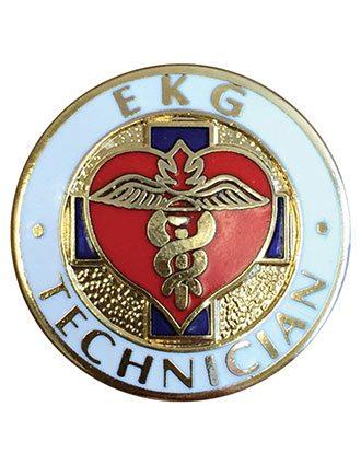 Prestige EKG Technician Emblem Pin