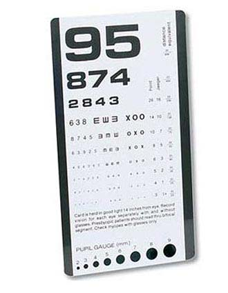Prestige Pocket Eye Chart