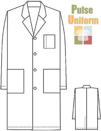 PU Made To Order Unisex Long White Lab Coat-PU-1005