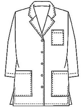 PU Made To Order Three Quarter Sleeves Short Lab Coat-PU-1025
