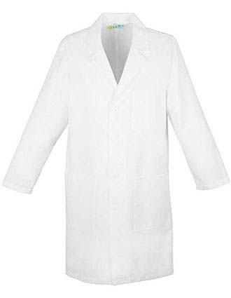 PU Made To Order Unisex Snap Front 32 Inch Short Lab Coat-PU-1035