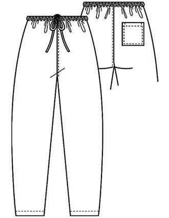 PU Made To Order Unisex Single Pocket Drawstring Scrub Pants-PU-2012