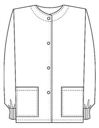PU Made To Order Unisex Two Pocket Jewel Neck Medical Scrub Jacket-PU-6005
