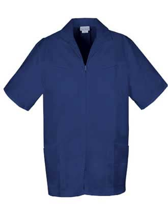 PU Made To Order Men's Two Pocket Zip Front Medical Scrub Jacket-PU-6100