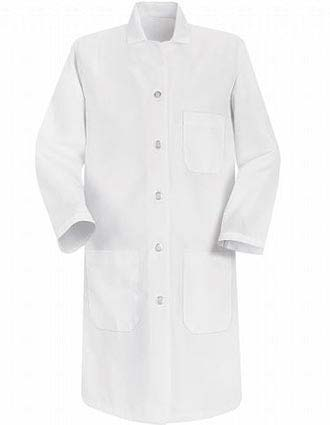 Red Kap Womens Three Pocket 37 inch Long Medical Lab Coat-RE-5210
