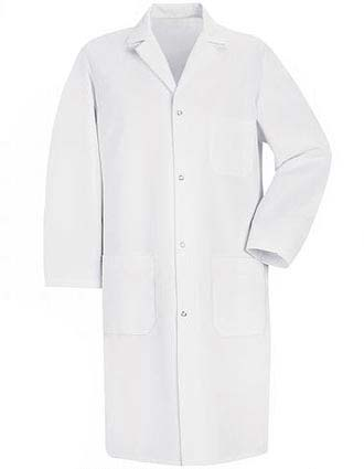 Red Kap Mens Three Pocket 41.5 inch Long Medical Lab Coat