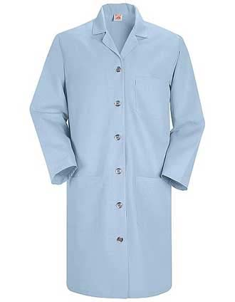 Red Kap Women's 38.25 Inches Light Blue Lab Coat-RE-KP13LB