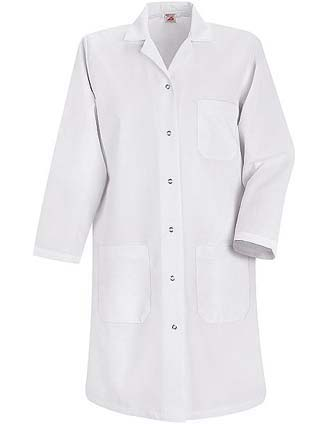 Red Kap Womens Four Pocket 38.25 inch Long Lab Coat-RE-KP15WH