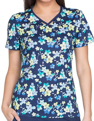 Runway Deep In The Meadow Women's Printed V-Neck Top