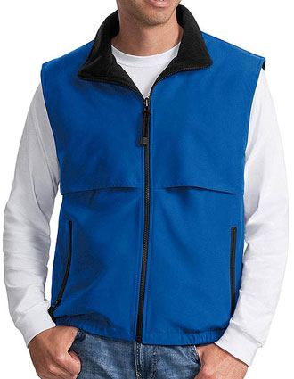 Sanmar Port Authority Unisex Reversible Terra-Tek Nylon-Fleece Vest