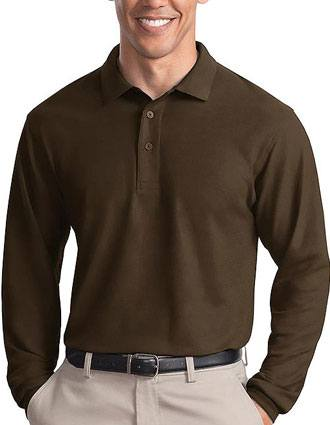 Sanmar Port Authority Men Silk Touch Long Sleeve Sport Shirt