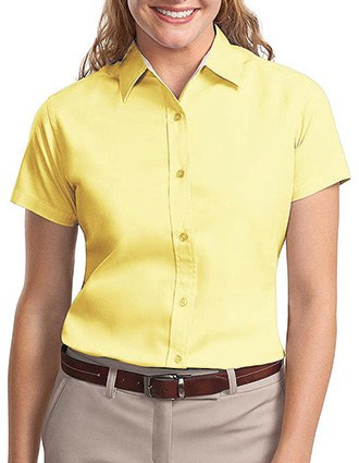 Sanmar Port Authority Womens Easy Care Short Sleeve Shirt-SA-L508