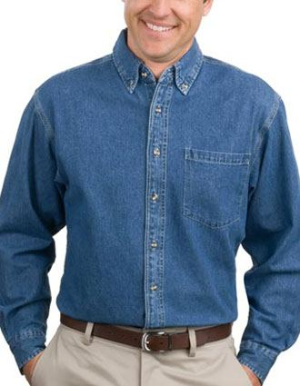 Sanmar Port Authority Mens Heavy Weight Single Pocket Denim Shirt