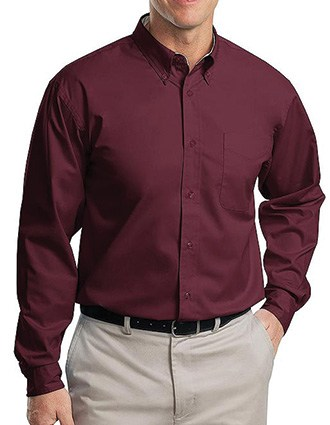 Sanmar Port Authority Men's Long Sleeve Easy Care Shirt-SA-S608