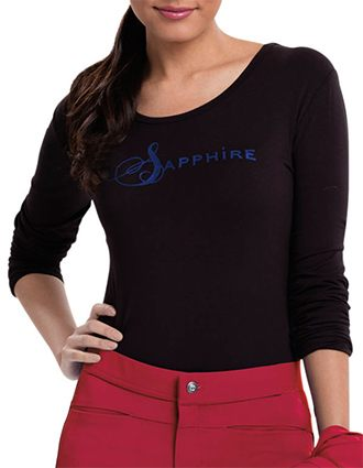 Sapphire Luxury Women's Chelsea Long Sleeve Knit Tee