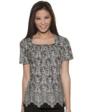 Buy Skechers Womens Square Neck Chantilly Lace Print Scrub