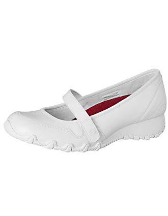 Skechers Footwear Women Leather Mary Jane White Nursing Shoes