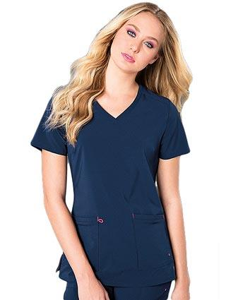 Smitten Women's Rumor V-Neck Solid Scrub Top-SM-S101004