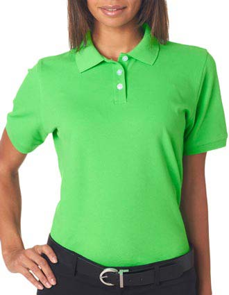 UltraClub® Ladies' Classic Platinum Polo-UL-7500L