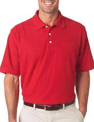 UltraClub® Men's Platinum Honeycomb Piqué Polo-UL-7510