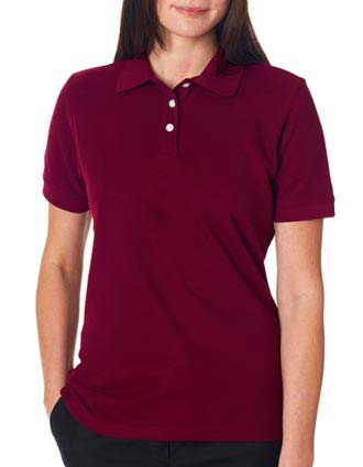 7510L UltraClub® Ladies' Platinum Honeycomb Piqué Polo