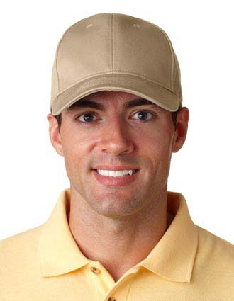 8101 UltraClub Classic Cut Chino Cotton Twill Constructed Cap-UL-8101