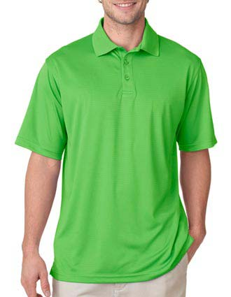 8220 UltraClub Men's Cool & Dry Jacquard Stripe Polo-UL-8220
