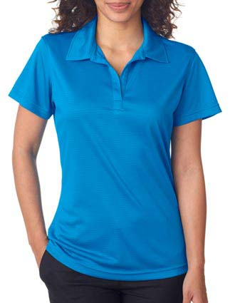 8220L UltraClub Ladies' Cool & Dry Jacquard Stripe Polo-UL-8220L