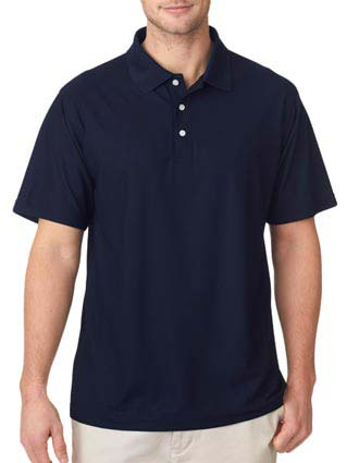 8240 UltraClub Men's Cool & Dry Pebble-Knit Polo-UL-8240