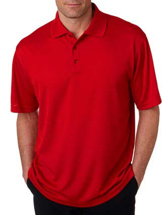 8305 UltraClub Men's Cool & Dry Elite Mini-Check Jacquard Polo-UL-8305