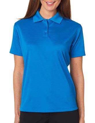 8305L UltraClub Ladies' Cool & Dry Elite Mini-Check Jacquard Polo-UL-8305L