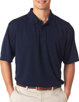 UltraClub Men's Platinum Performance Jacquard Polo with TempControl -UL-8320