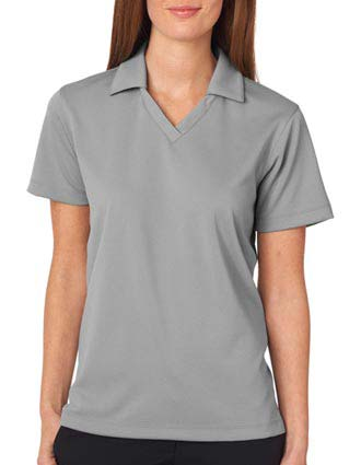 UltraClub Ladies' Platinum Performance Jacquard Polo w/ TempControl-UL-8320L
